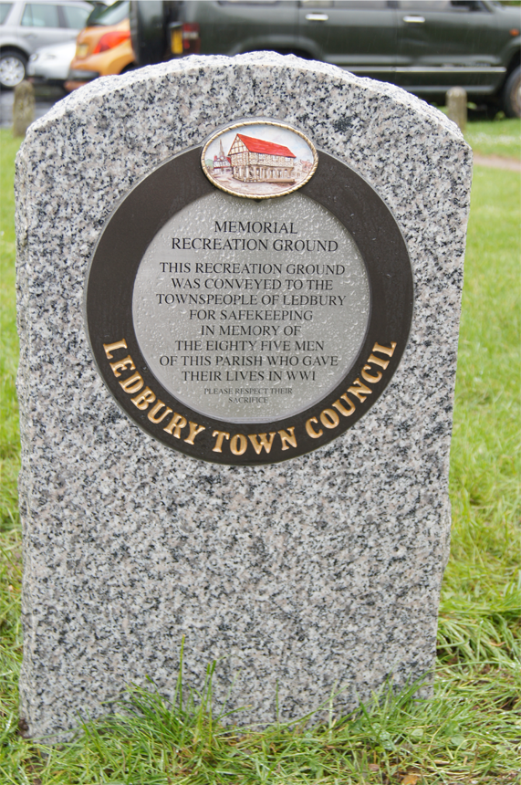 Memorial Plaque set in Granite